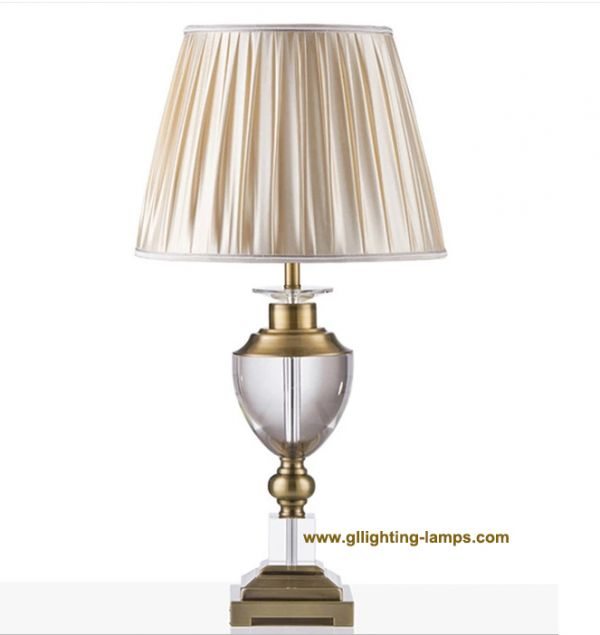 GLT-5560 Gold Life Luxury American style living room bedroom bedside table lamp Hotel guest room clubhouse villa table lamp K9 Crystal OEM